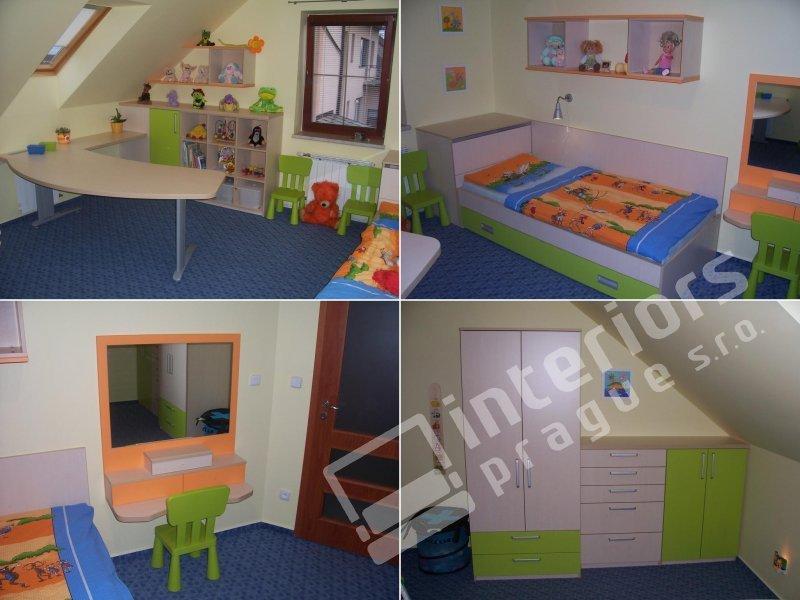 Vyrábíme studentské a dětské pokoje v návrhu se snažíme